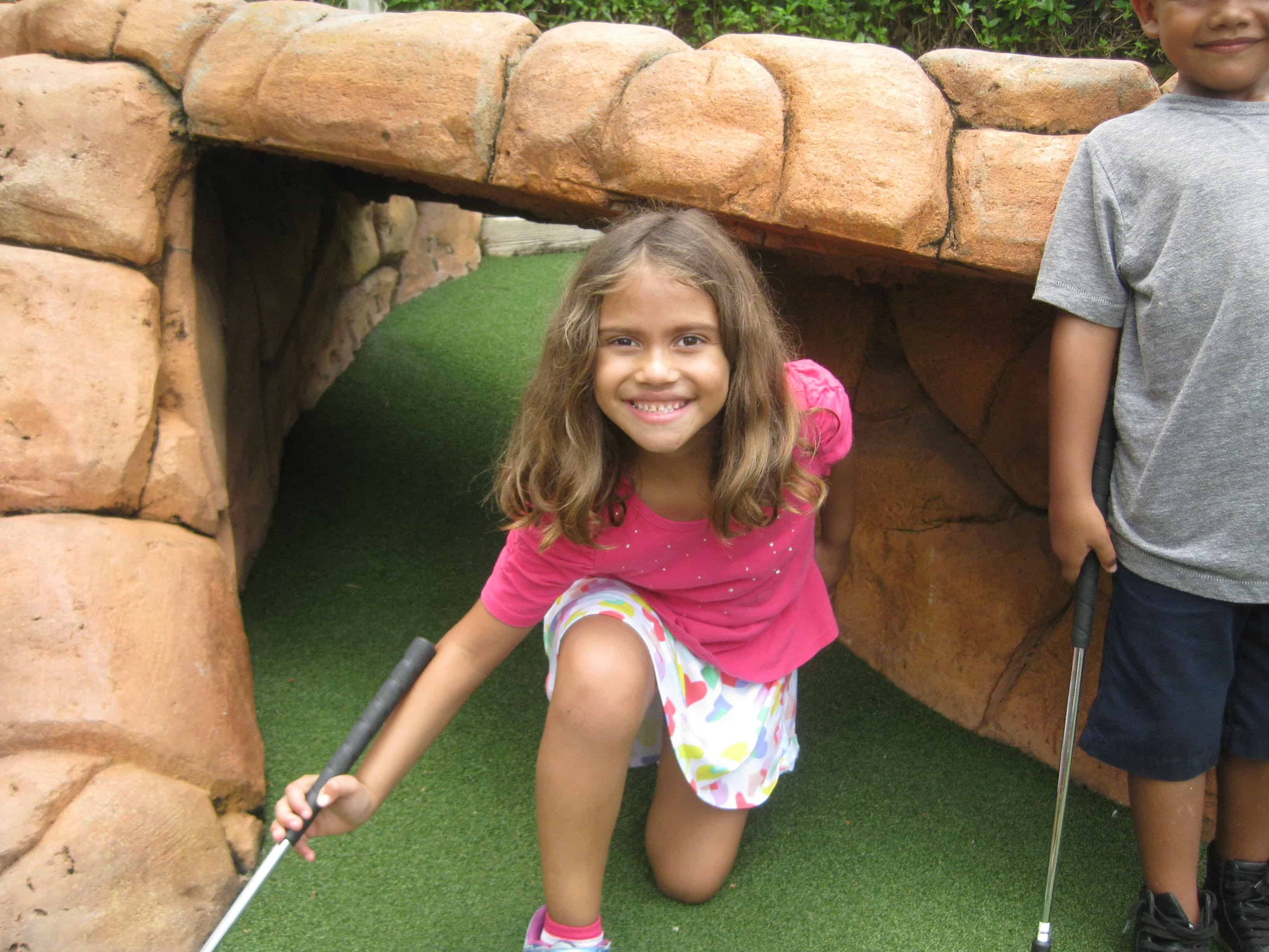 Miniature Golf a Big Hit for Games Week at Summer Camp